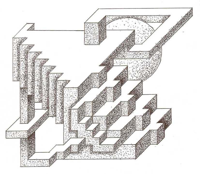 すべての折り紙 折り紙 箱 正方形 : これは斜投影図法で、影は ...